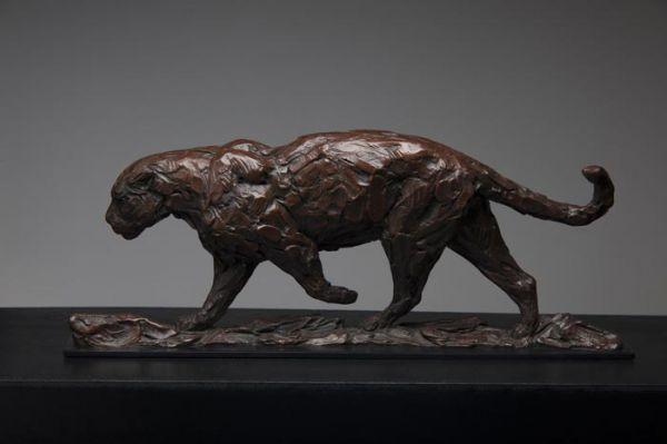 'Jaguar (South American Big Cat sculpture/statuettes)' by David Mayer