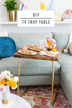 Date Night In: DIY TV Tray Table & Folded Heart Napkins