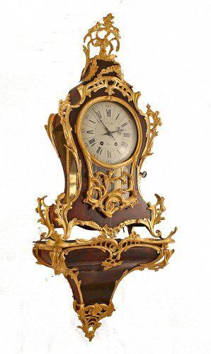 Cartel de style Louis XV de THIBAULT corne et bronze doré - AnticStore Antiquit...