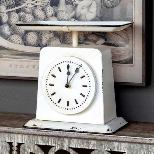 Old Fashioned Homemaker Scale Clock