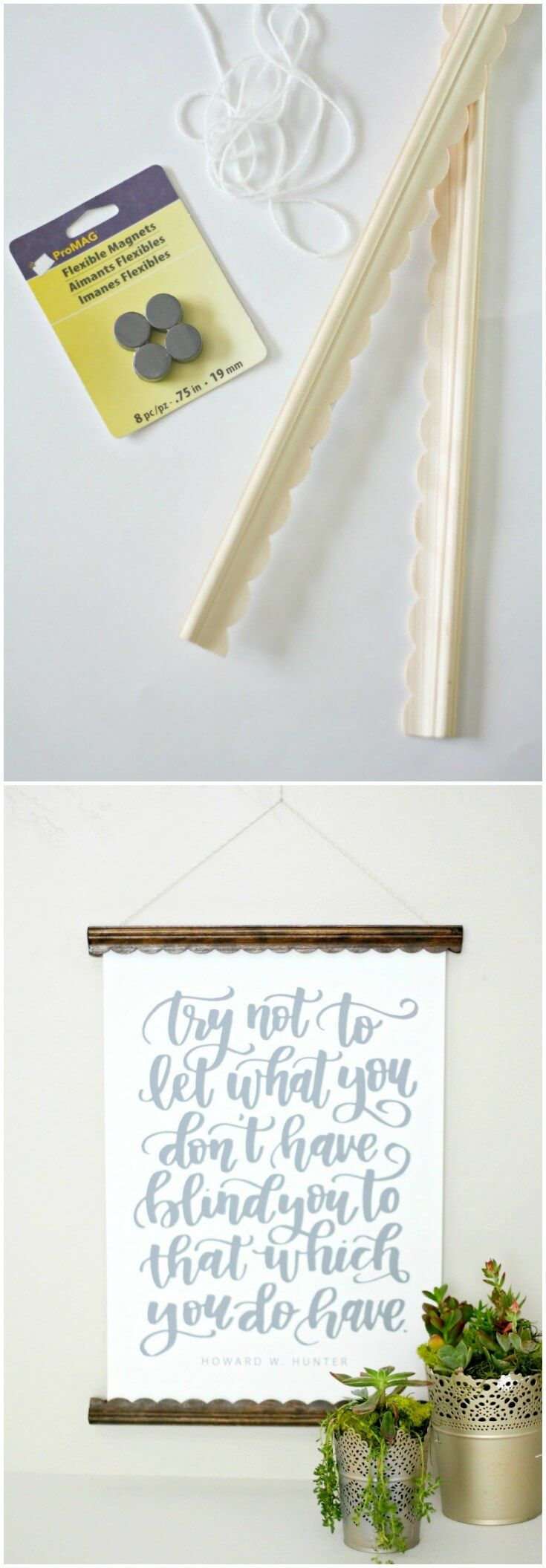 This DIY Poster Hanger is EASY & Budget Friendly