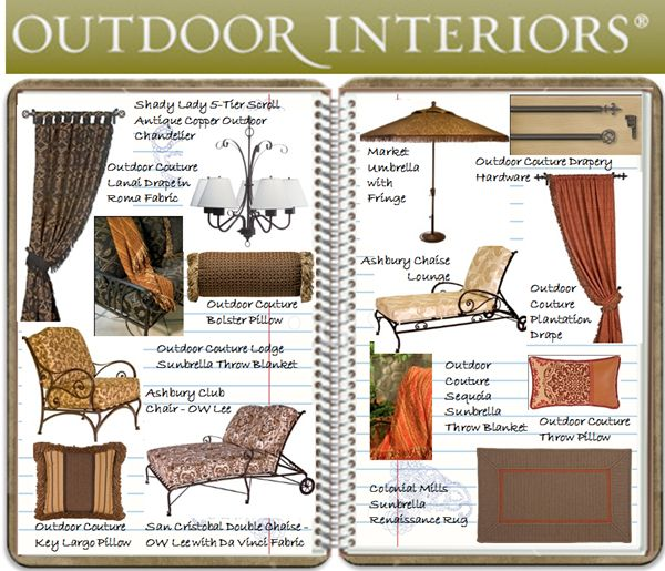 Tuscan Style Al Fresco Living Moodboard - furniture & decor ideas for creating s...