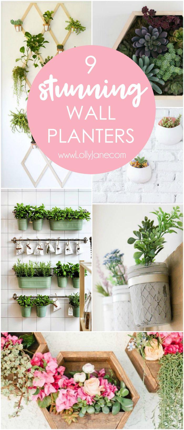 9 stunning wall planters