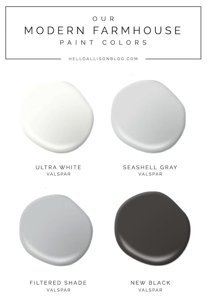 Our Modern Farmhouse Paint Colors