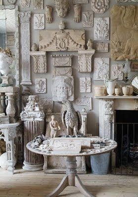 Peter Hone has filled his London flat with urns, busts and architectural fragmen...