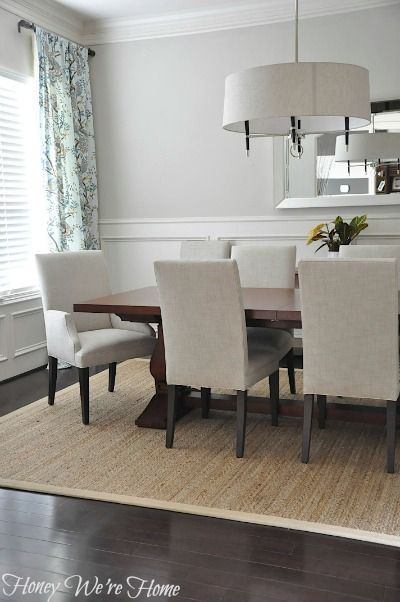 Beautiful and simple dining room from Honey We're Home - love it!