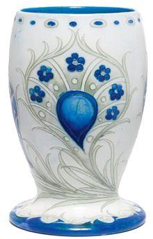 Moorcroft Peacock Design Vase