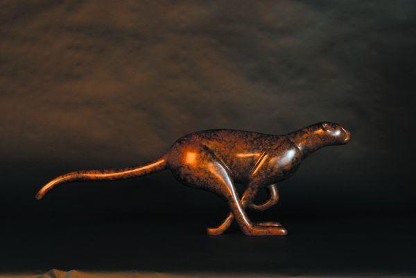 Lost Wax #bronze #sculpture by #sculptor Loet Vanderveen titled: 'Small Running ...
