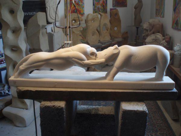 #Portland #limestone (Jordans best bed) #sculpture by #sculptor Nicholas Rowsell...