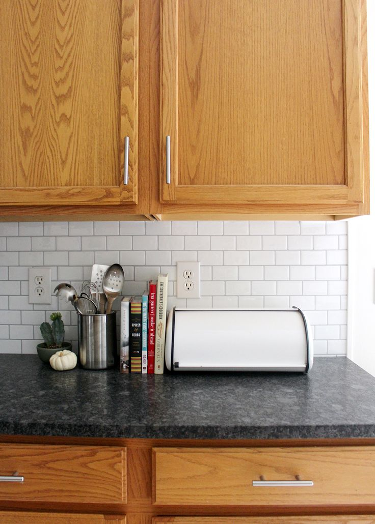 New Peel and Stick Subway Tile Backsplash