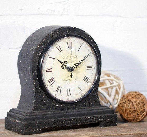 Vintage Inspired Wood Mantel Clock
