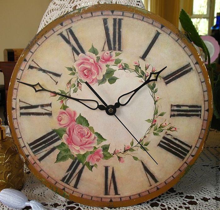 Rose Clock (700x670)
