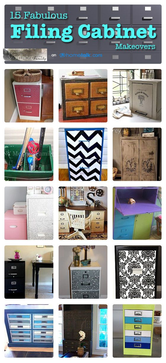 15 Fabulous Filing Cabinet Makeovers