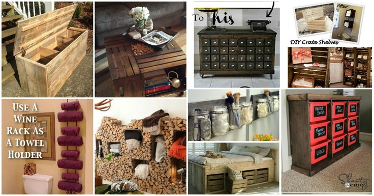 50 Decorative Rustic Storage Projects For a Beautifully Organized Home