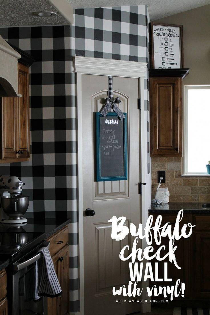 Buffalo check wall-with vinyl