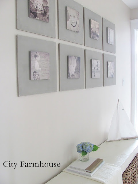 DIY Gallery Wall Tutorial for under 40-.Used MDF & French Linen Chalk Paint.