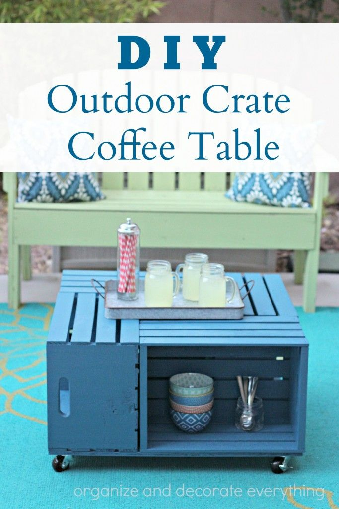 DIY Outdoor Crate Coffee Table