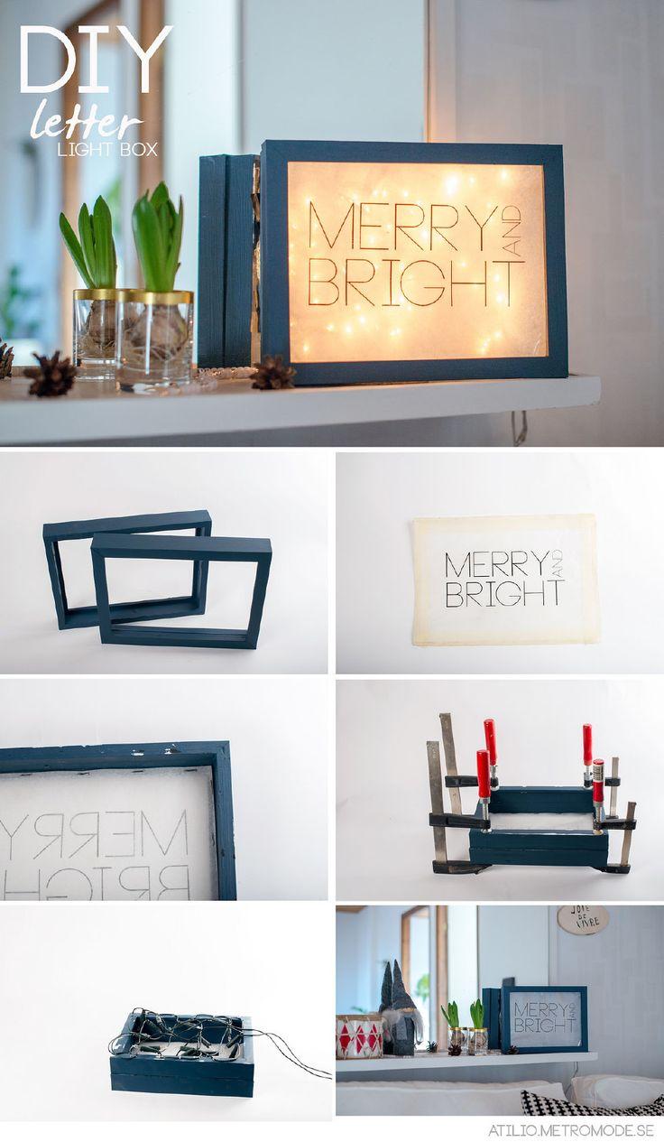 DIY merry and bright light box