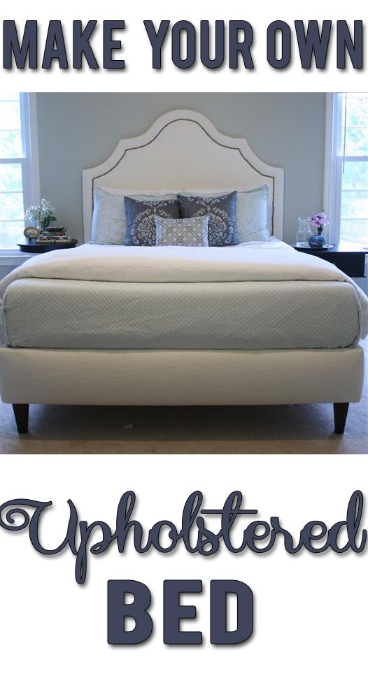 DIY upholstered bed! Includes materials list, costs and complete step-by-step in...