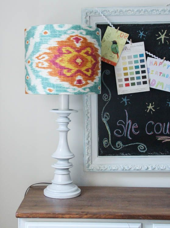 How to Make Your Own Custom Lampshade   The Happy Housie