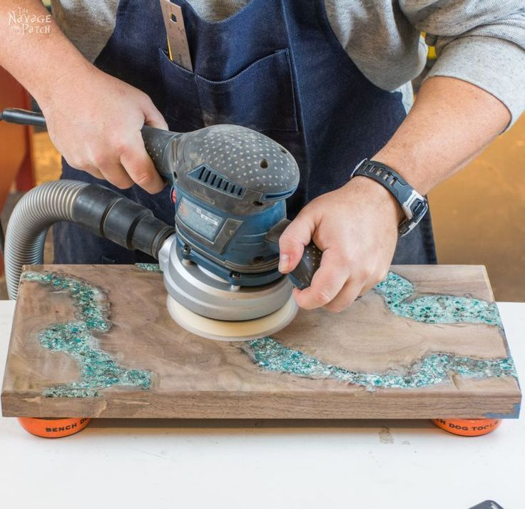 How to Make a Cheese Board with Turquoise Inlay