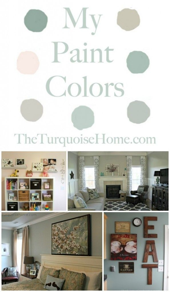 The Paint Colors in my Home