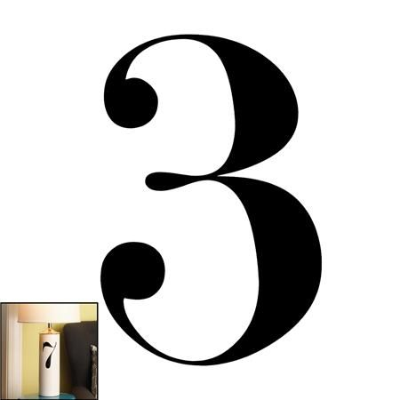Young House Love Typography Number Decal