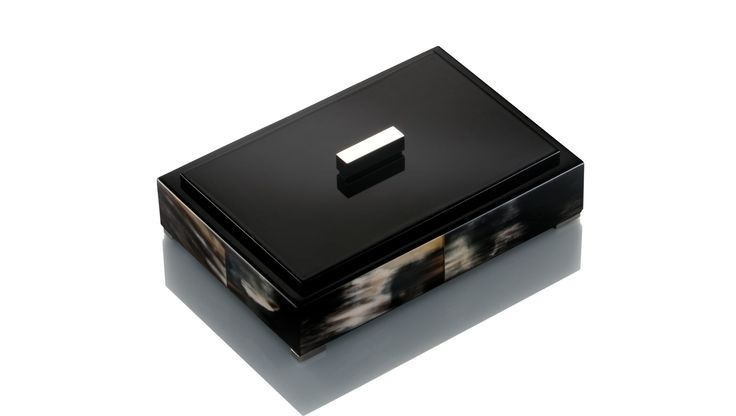 Arca, Dark Horn & Lacquer Box, Buy Online at LuxDeco