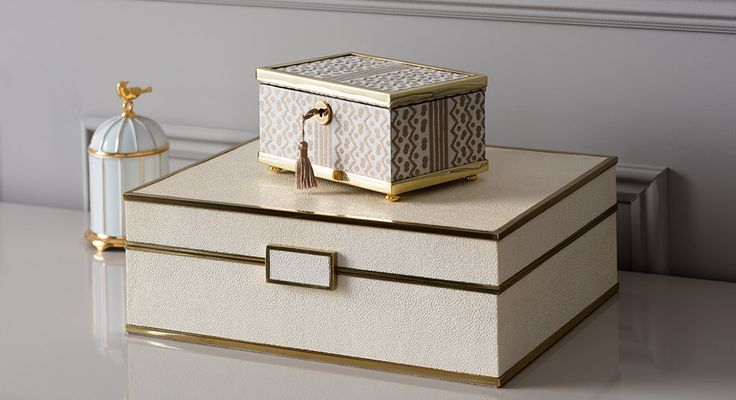 Buy Luxury Decorative Boxes Online at LuxDeco. Linley Jewellery Boxes. iWoodesig...