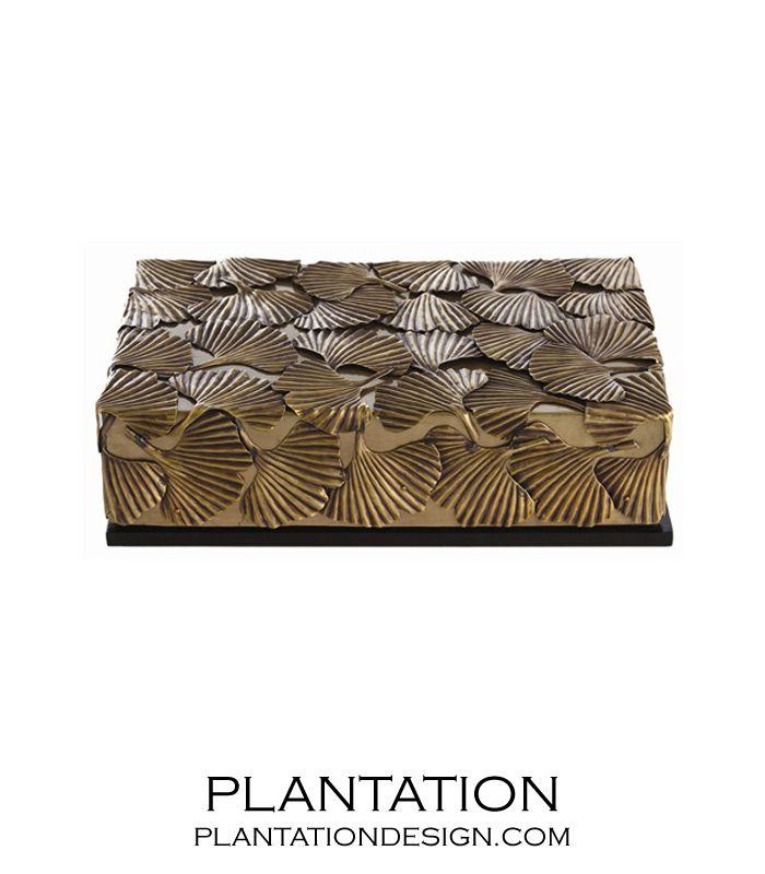 Ginkgo Leaf Brass Box | Plantation Design
