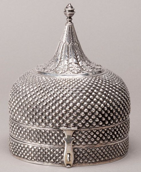 Mughal Court Silver Pandan Box. This and more important Asian art for sale on Cu...
