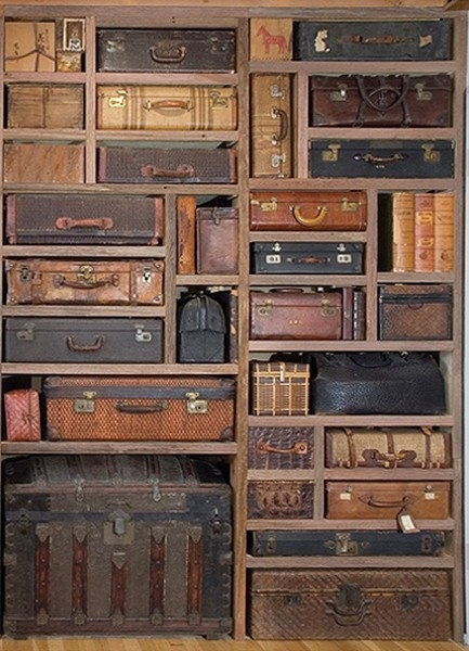 One can't have too many cool suitcases! You could make luggage tags with a list ...