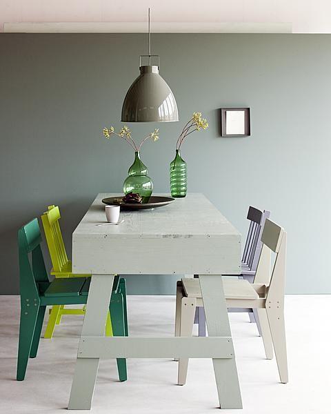 Dat groen van nature een koele kleur is kun je uitbuiten door het te gebruiken o...