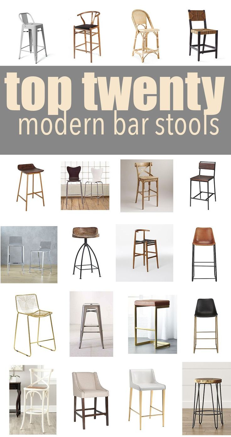 Home Decorating DIY Projects Top 9 Modern Kitchen Bar Stools ...