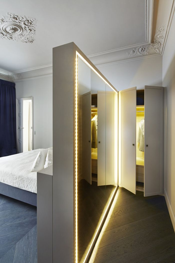 Bedroom: PARIS SOLFÉRINO: The Latest from Sara Lavoine. Very clever with the ba...