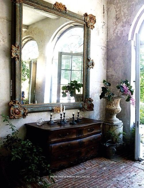 French Country style mirror frame.