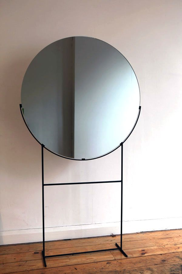 Kim Thome; Enameled Metal and Glass Standing Mirror from Her Installation, 'Work...