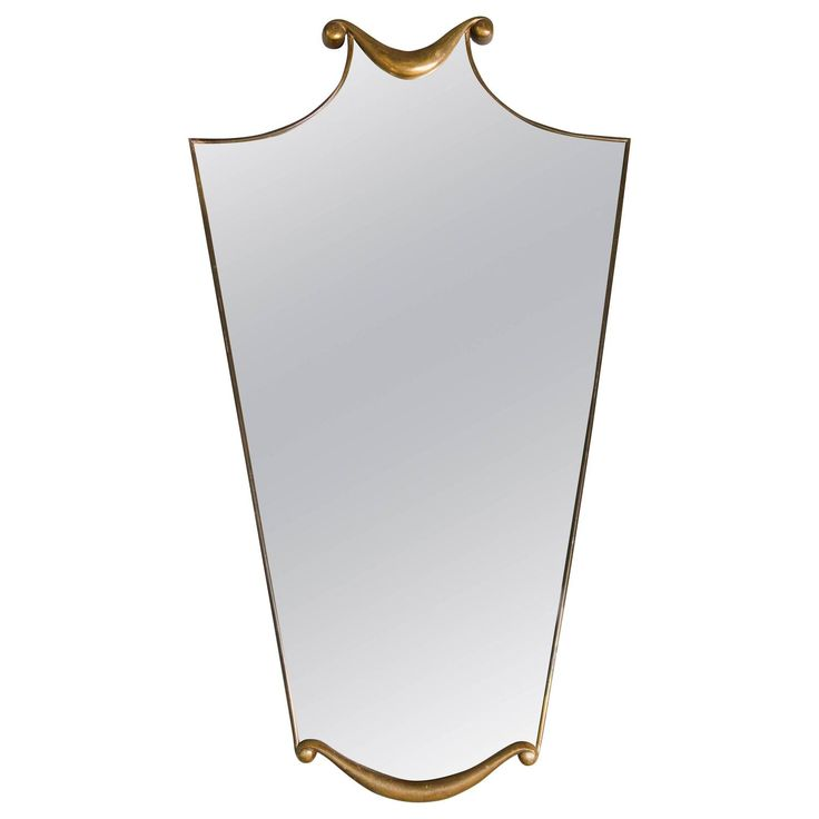Mid century mirror in the manner of Gio Ponti or Paolo Buffa 1