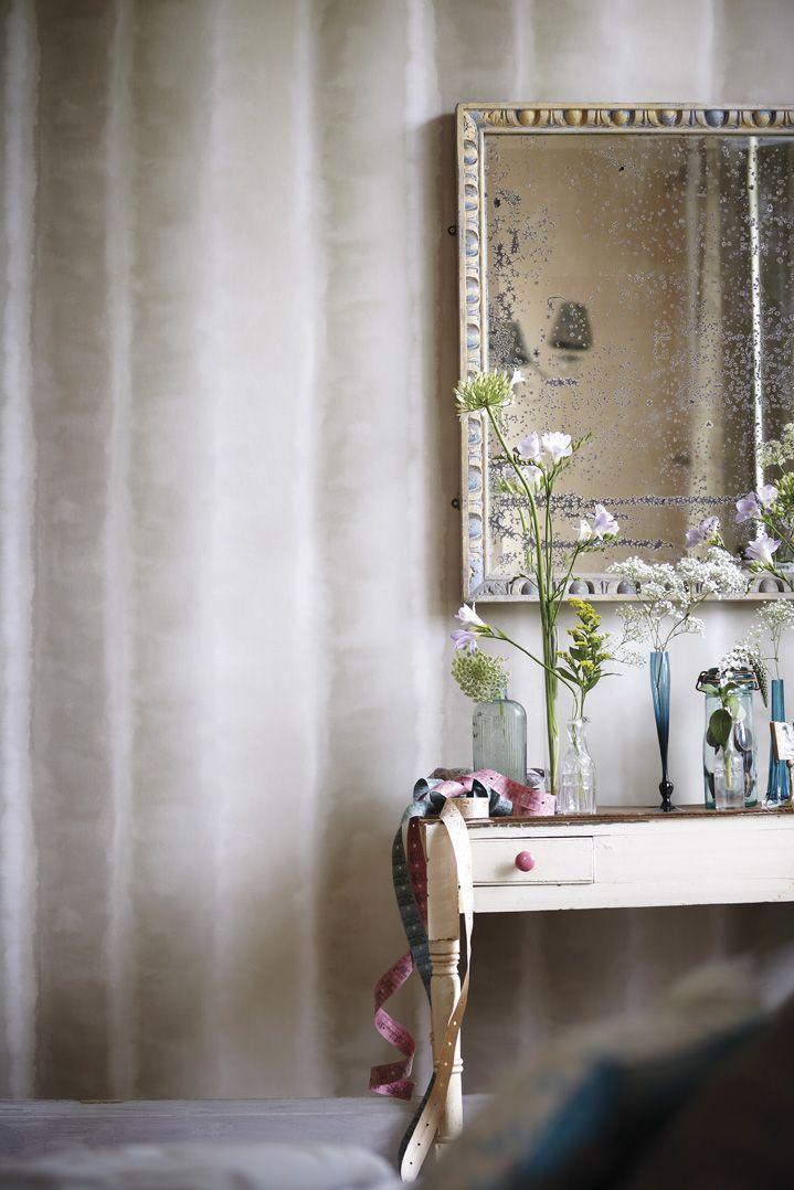 The soft watercolour lines of the Demeter Stripe wallpaper is the perfect…