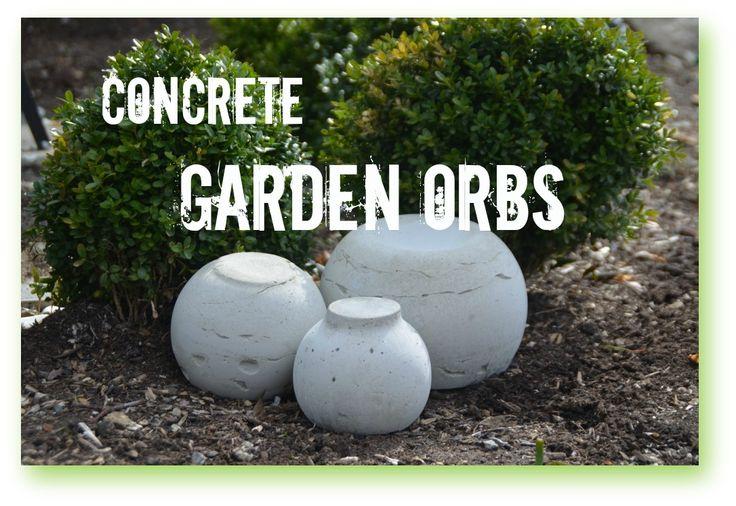 How to make Concrete Garden Orbs