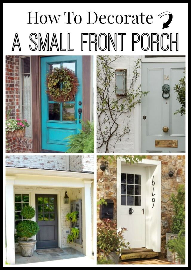 Lots of tips and a dozen inspiring photos to help you decorate your small front ...