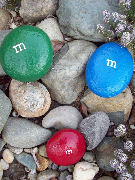 Paint Rock like MM's in Your Garden ... SO cUte!