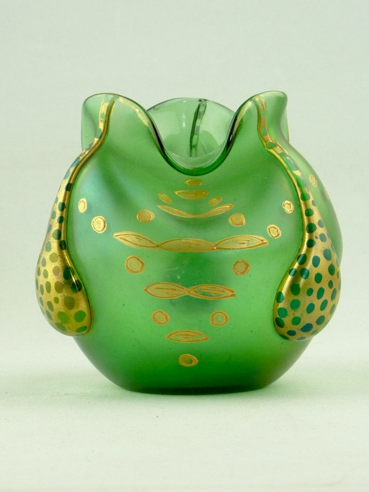 ❤ - Loetz | Enamel Decorated Vase - 1910.