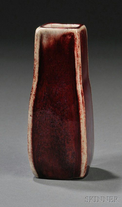 194: , Ernest Chaplet Vase, Art pottery, Stoneware with