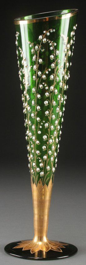 A moser bohemian art glass vase, early 20th c