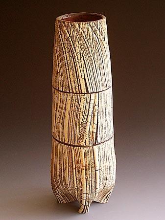Akira Satake - Vase, stoneware, kohikie glaze #pottery #Japanese_pottery #cerami...