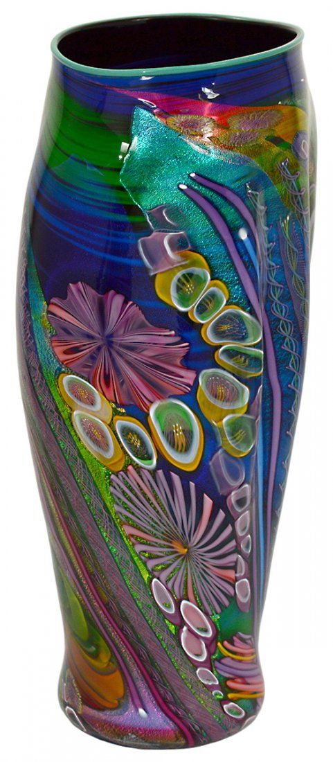 Art-Glass Vessel by James Nowak - Signed Nowak and inscribed 51F12. Height 20