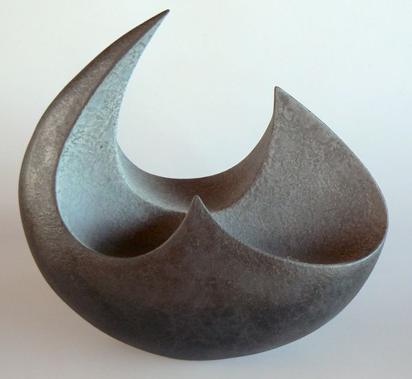 Rick Rudd Bowl 2005 Pinched and coiled terracotta clay. Earthenware-fired metall...
