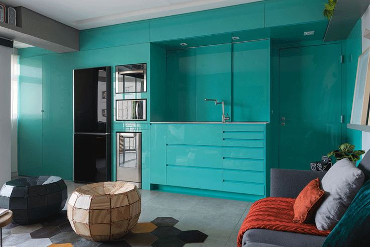Before & After – A New Bright Blue Kitchen For This Small Apartment