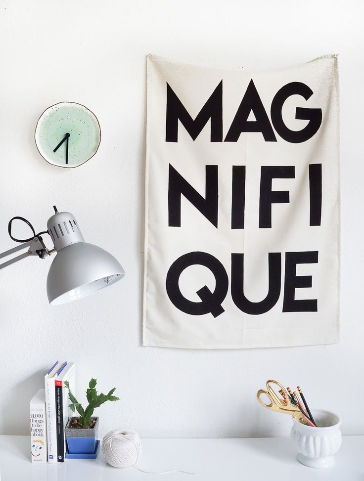 Printable Fabric Flag Word Art